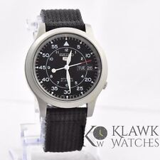 Seiko Men's SNK809 Automatic Stainless Steel Watch with Black Canvas *Defect*