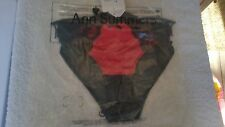 Ann Summers Charlotte Briefs Black & Red Size 14  NWT In Packet With Hanger