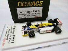 WILLIAMS FW11 BRAZILIAN GP 1986 WINNER NELSON PIQUET TAMEO KIT 1/43 TMK041