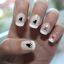 French Bulldog Love Nail Art Red (DPNA005)- Free Shipping