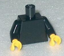 TORSO Lego Plain Black Torso w/yellow hands NEW