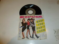 "EXPOSE - What You Don't Know - 1989 Germany 7"" Juke Box vinyl single"