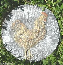 NEW plaster,concrete abs plastic single rooster garden mold