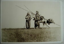 CPA EDWARD S.CURTIS - TRAVOIS, TRIBU BLACKFOOT C.1900 ** Collection CU12 - 1994
