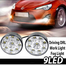 2X 9SMD Daytime Driving Running Light DRL Car Fog Lamp Head Lights For SUV 4WD
