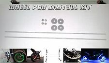 Axle Center Wheel Pod Install Rod Kit Motorcycle Accent Lite Glow Light Cycle