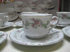 Box Set of 12 pcs Lynn's China Coffee /Tea 6 Cups /6 Saucers Flowers Clarabelle