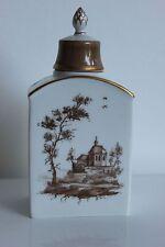 Boîte à Thé Porcelaine HOCHST ravissant décor paysage réhaussé or