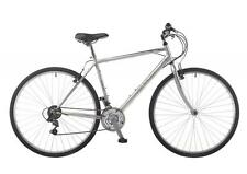 "Saxon Trail Gents 700c 18 Speed 20"" Frame Hybrid Trekking Road Bike Silver SAX11"