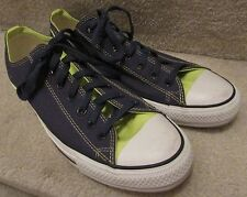 Converse Chuck Taylor All Star Ox Low Sneakers Blue Neon Yellow Mens 12 Women 14