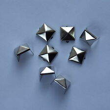 9mm SILVER PYRAMID STUDS RIVETS