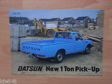 Datsun 1 Ton Pick-Up Prospekt / Brochure / Depliant, GB, 6.1980