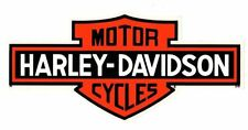 "HARLEY DAVIDSON 4 1/4""  BAR AND SHIELD __ INSIDE WINDOW DECAL STICKER"