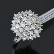 NYJEWEL 18k Solid Gold Brand New Spectacular 4ct Diamond Starburst Ring $9999