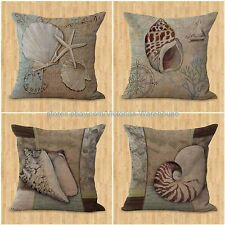 set of 4 cushion covers marine ocean animal seahorse octupus starfish couch