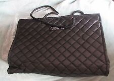 Tanger quilted tote - black with pink interior - NEW