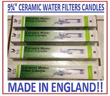 4 STERASYL CERAMIC IMPREGNATED REPLACEMENT WATER FILTERS CANDLES 9 3/4""
