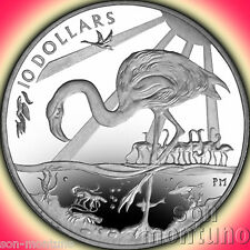 2015 Majestic Pink Flamingo - Sterling Silver Coin British Virgin Islands $10