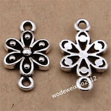 20pc Tibetan Silver Flower Connectors Charms Pendant Beads Jewellery Craft J1099
