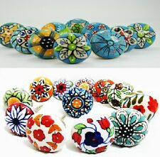 15 multicolor mix Ceramic Drawer Knob Cabinet Knobs chrome furniture handle pull
