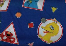 SALE!! 2-YARD Lot *SESAME STREET* Characters FLANNEL Fabric Royal BLUE