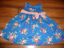New Gymboree Baby Girl Bright Blue Floral Dress Size 12-18 months NWT