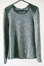 Whistles Soft Knit Marl Green Long Sleeve Jumper Size 8
