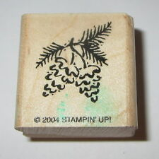 Pine Cones Rubber Stamp Tree Branch Stampin' Up! Needles Forest Rare Pinecones