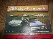1973 Chrysler Plymouth Barracuda Road Runner Fury Imperial Sales Brochure