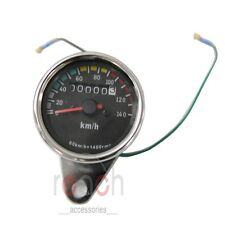 Mini Universal Motorcycle Mechanical  Speedo Speedometer Gauge 2:1
