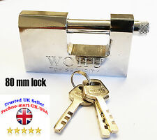 80mm HEAVY DUTY / ARMOURED SHUTTER PADLOCKS HIGHEST QUALITY Small/Large Security