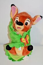DISNEY'S BABIES PARKS ~ BAMBIE Plush & Green Leaf Blanket Wrap w Pink Butterfly