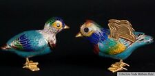 China 20. Jh. Enten - A Pair Of Small Chinese Cloisonne Ducks - Cinese Chinoise