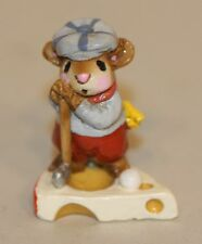 1981 Wee Forest Folk WFF Annette Petersen Golfer Mouse MS-10 Golf Ball Cheese