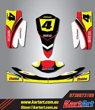 TonyKart OTK Cadet Rookie 2010 - 2014 go kart sticker kit NERO STYLE decals