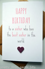 Birthday Card / Greeting Card/ Sister / Funny / Humour /Cheeky - Best Sister P