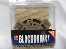 BLACKHAWK QUICK DISCONNECT SYSTEM ONE MALE TWO FEMALE ADAPTERS 430950CT MZ0504B