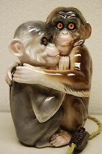 ANTIQUE VINTAGE GERMAN DRESDEN MEISSEN PORCELAIN CERAMIC MONKEY PARFUM LAMP