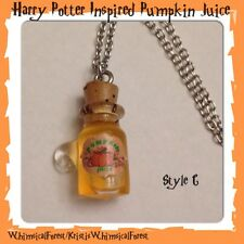 Handmade Harry Potter Inspired Pumpkin Juice Necklace Geekery Gift
