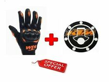 Combo For KTM Inspired Motocross Racing Glove Black XL/ KTM tank Sticker