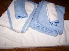 """PERSONALIZED EMBROIDERED BABY BOY  BATH TOWEL SET""100% COTTON"