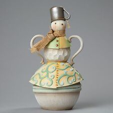 Snowman with Tin Cup Hat River's End by Jim Shore 4048056 NEW Design 2015