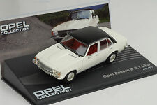 Opel Rekord D 2.1 L 1973 / 1977 weiss white 1:43 IXO Altaya Collection