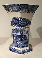 Spode Blue Italian Large Hexagonal Vase Free Shipping US CA