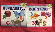 2 Children's Kids Music CD & Book ALPHABET & COUNTING Activities Songs Learning
