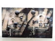 Set of Two J. Kugler Josef Kugler Mixed Media Oil on Canvas Abstract 3D Painting