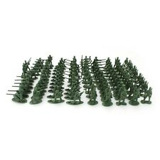 100PCS 1:72 Green Figures Soldiers Army Men Military Plastic 12 Poses