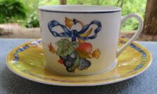 Bernardaud Limoges France Borghese Yellow Cup and Saucer Set (s)