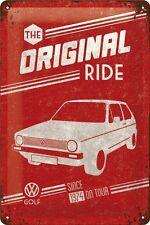 VW Volkswagen Golf original Ride Blechschild Schild Blech Tin Sign 20 x 30 cm