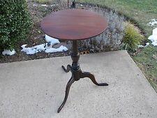 Solid Mahogany Occasional Tripod Tilt Top Round Table